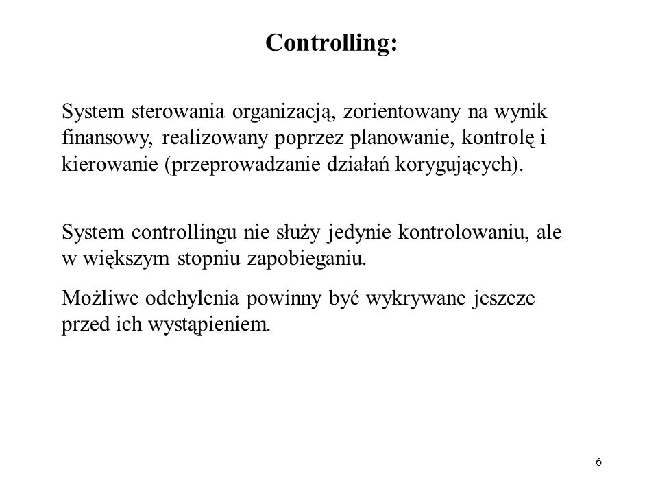 Controlling: