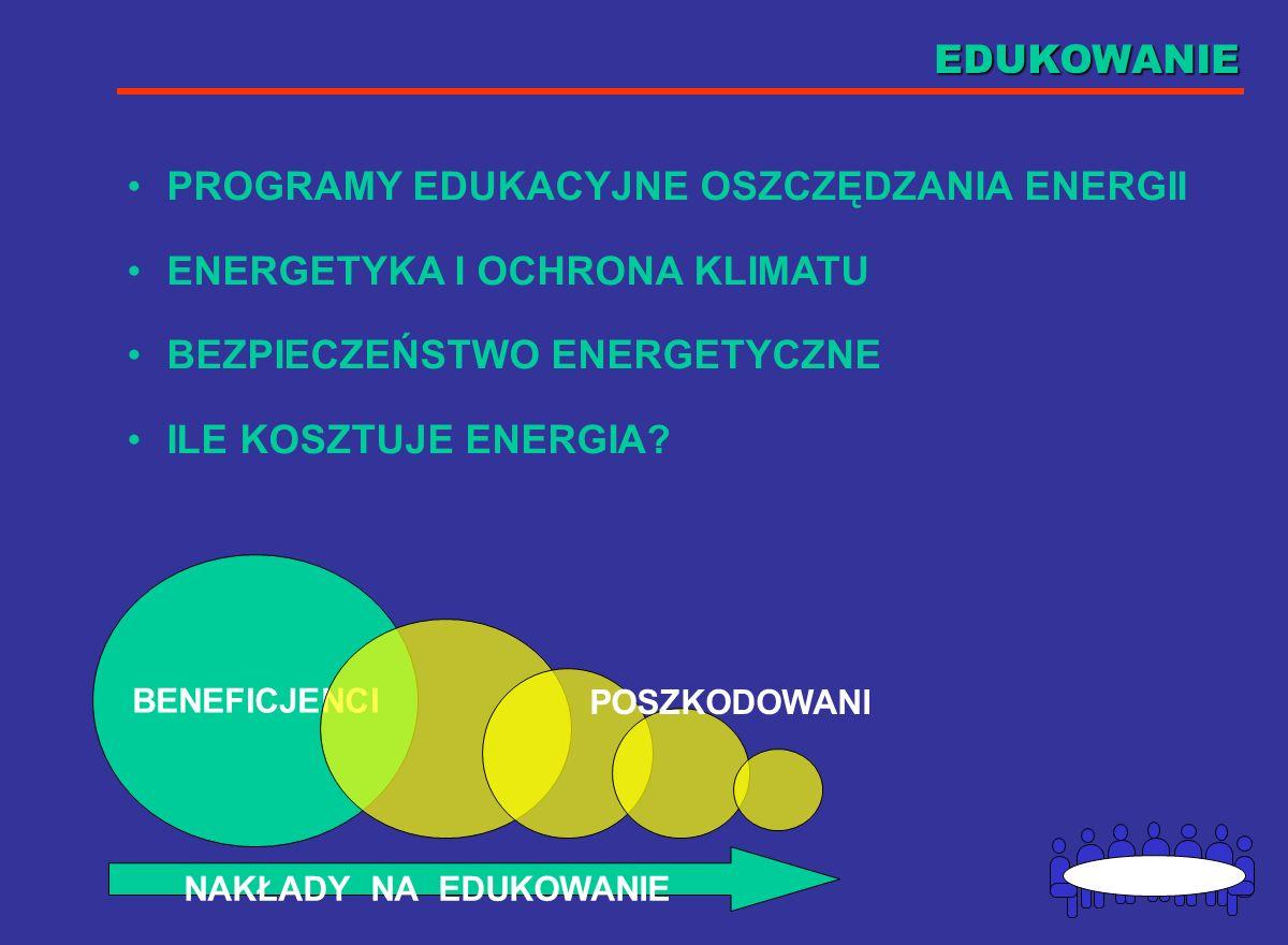 PROGRAMY EDUKACYJNE OSZCZĘDZANIA ENERGII ENERGETYKA I OCHRONA KLIMATU