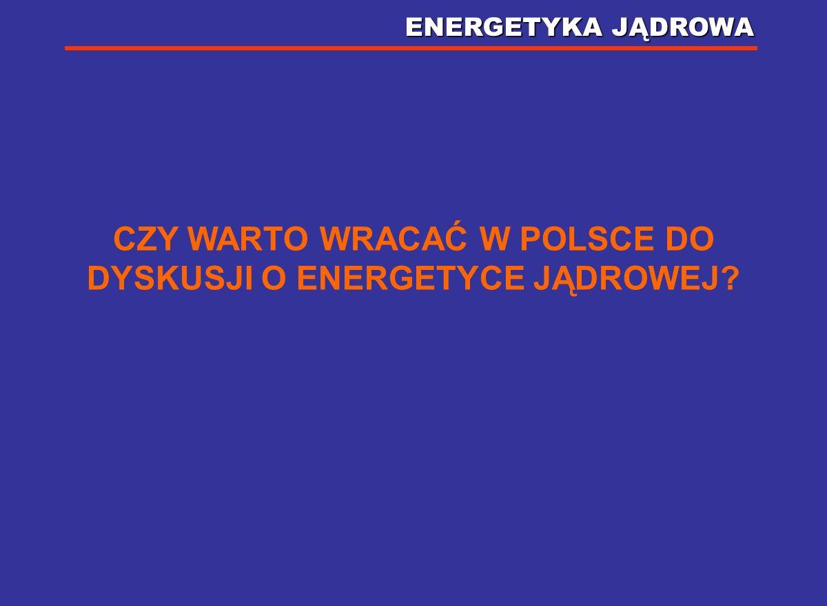 CZY WARTO WRACAĆ W POLSCE DO DYSKUSJI O ENERGETYCE JĄDROWEJ