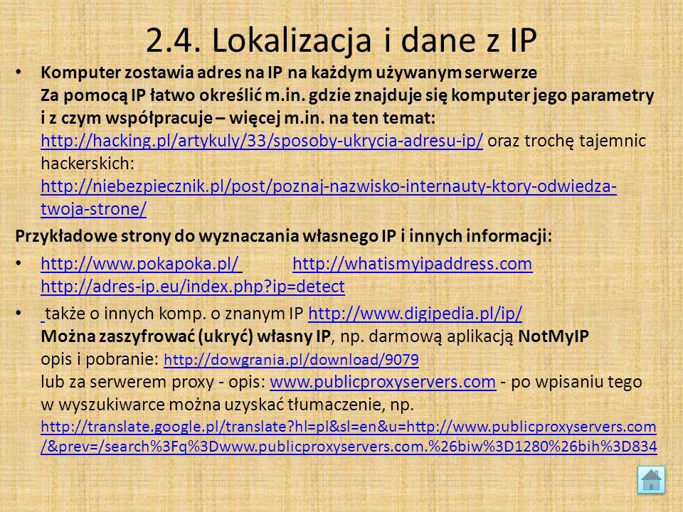 2.4. Lokalizacja i dane z IP