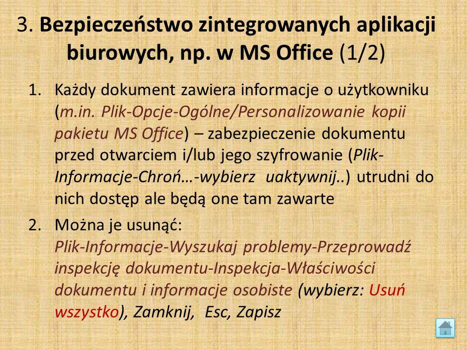 3. Bezpieczeństwo zintegrowanych aplikacji biurowych, np