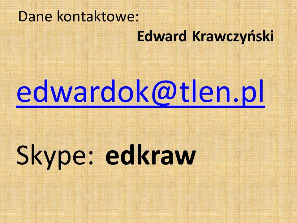 Dane kontaktowe: Edward Krawczyński