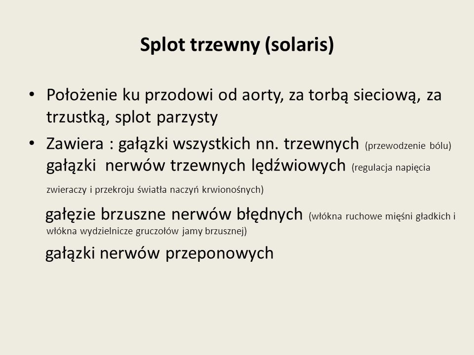 Splot trzewny (solaris)
