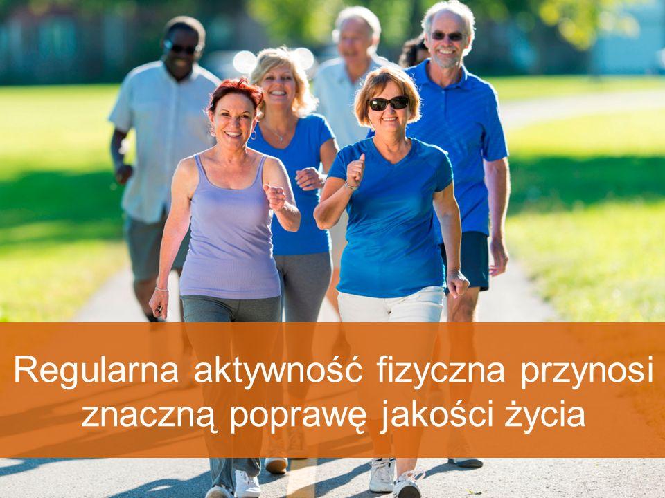 Regularna aktywność fizyczna przynosi znaczną poprawę jakości życia