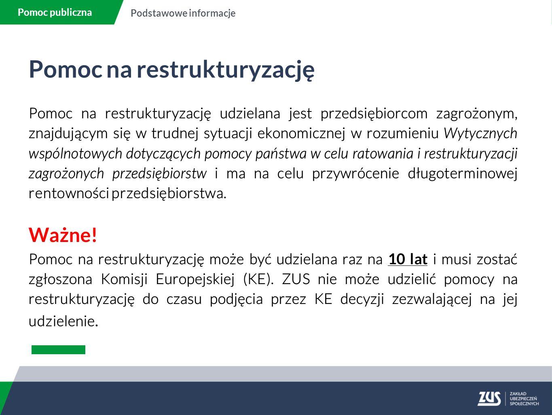 Pomoc na restrukturyzację