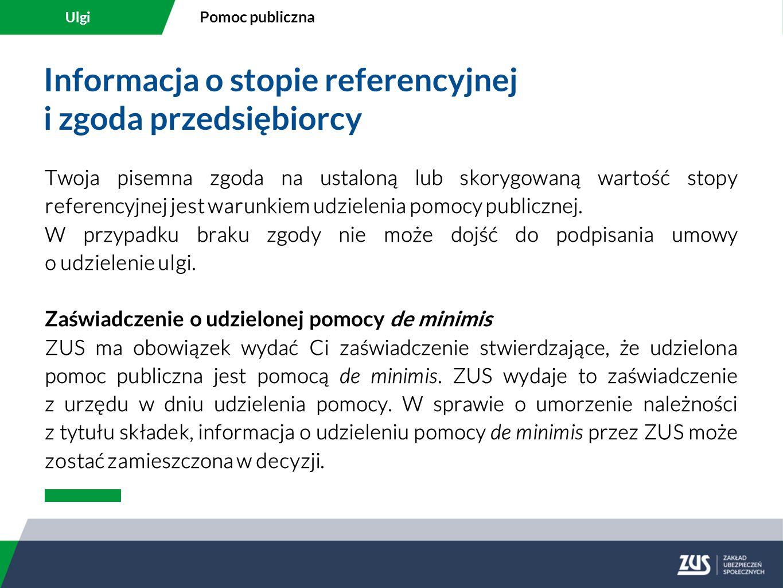 Informacja o stopie referencyjnej i zgoda przedsiębiorcy