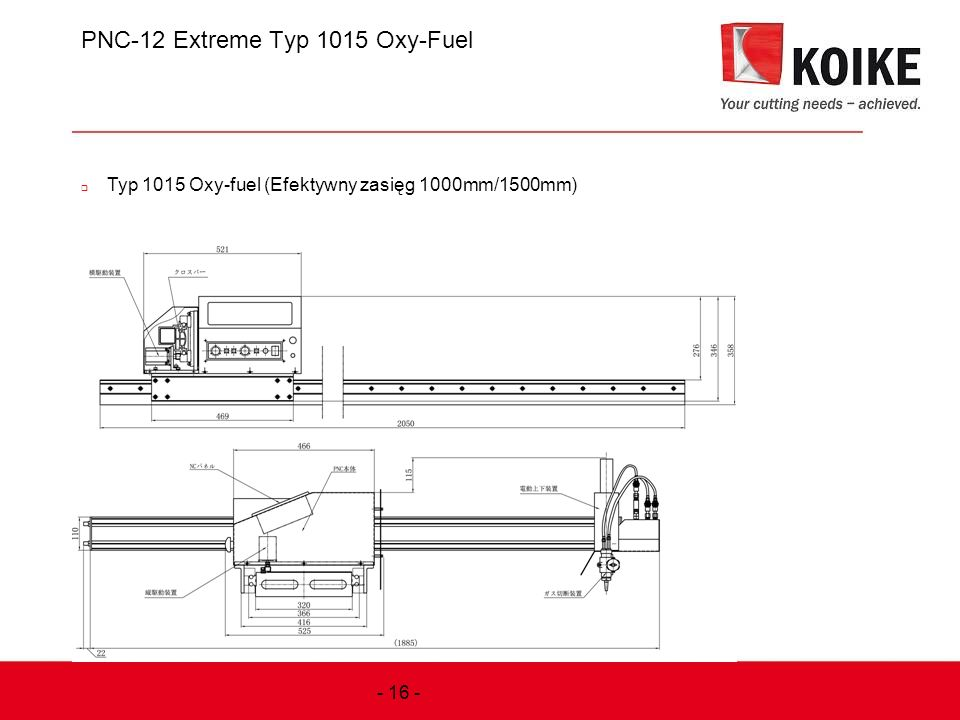PNC-12 Extreme Typ 1015 Oxy-Fuel