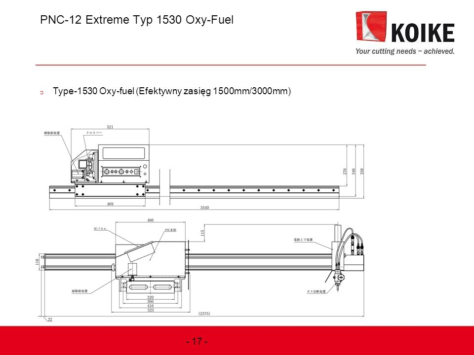 PNC-12 Extreme Typ 1530 Oxy-Fuel