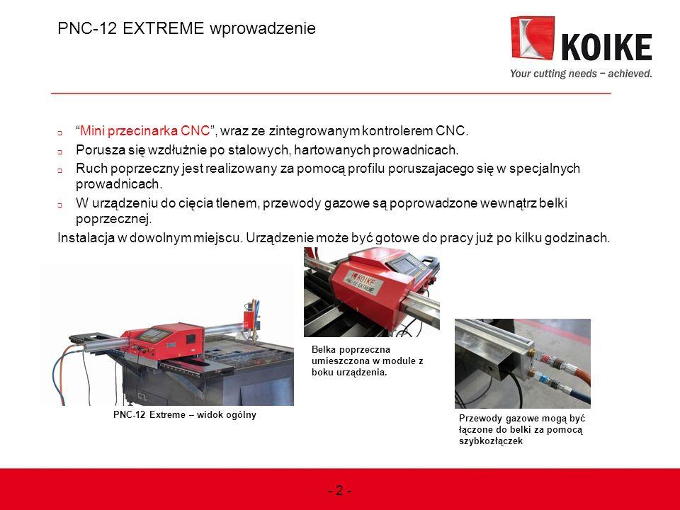 PNC-12 EXTREME wprowadzenie