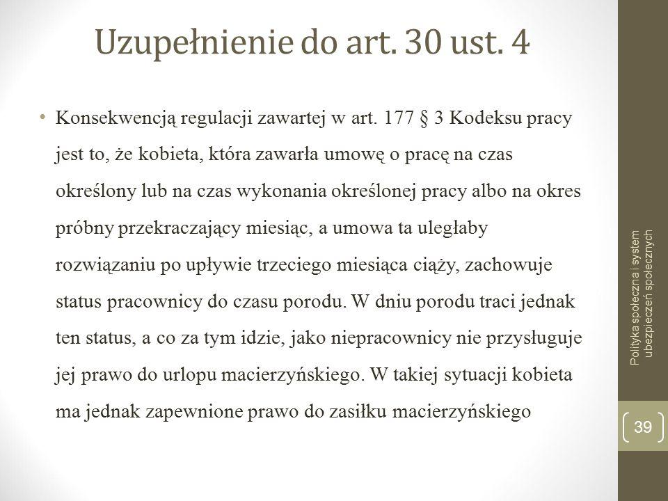 Uzupełnienie do art. 30 ust. 4