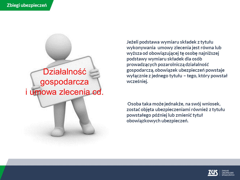 Działalność gospodarcza i umowa zlecenia cd.