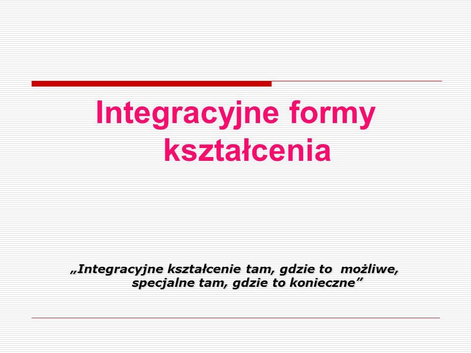 Integracyjne formy kształcenia