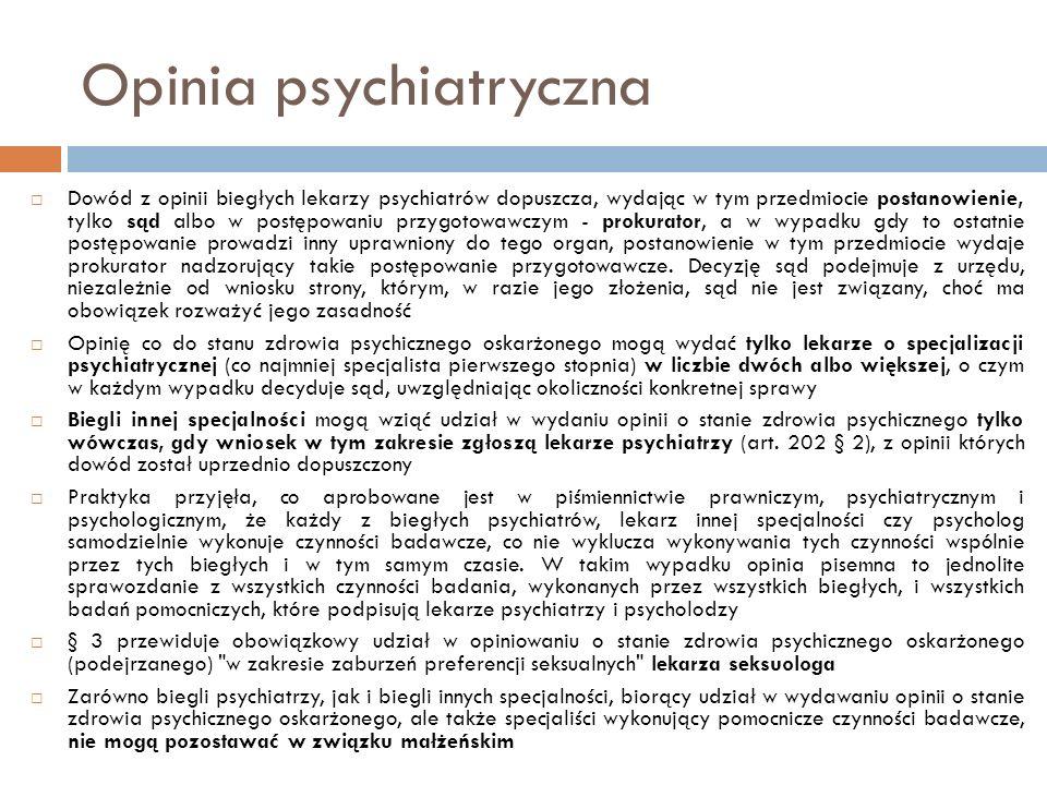 Opinia psychiatryczna