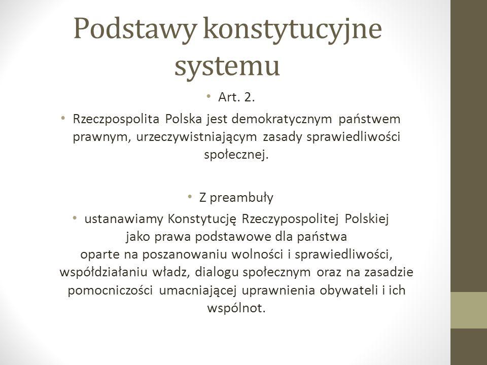 Podstawy konstytucyjne systemu