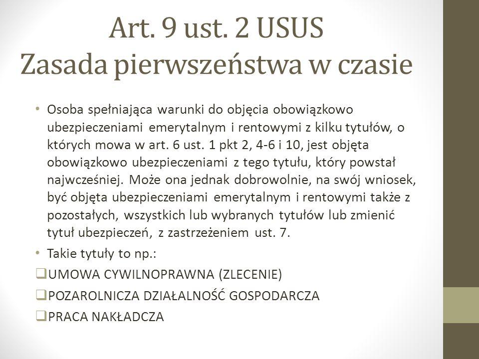 Art. 9 ust. 2 USUS Zasada pierwszeństwa w czasie