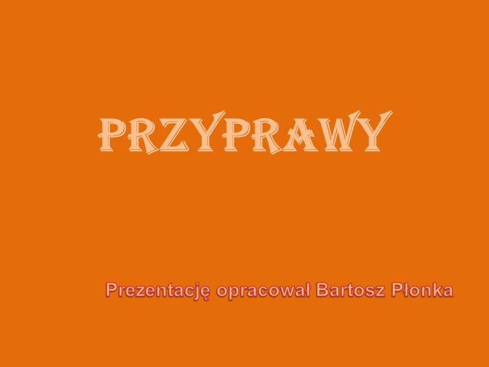 PRZYPRAWY Prezentację opracował Bartosz Płonka