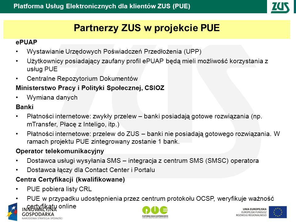 Partnerzy ZUS w projekcie PUE