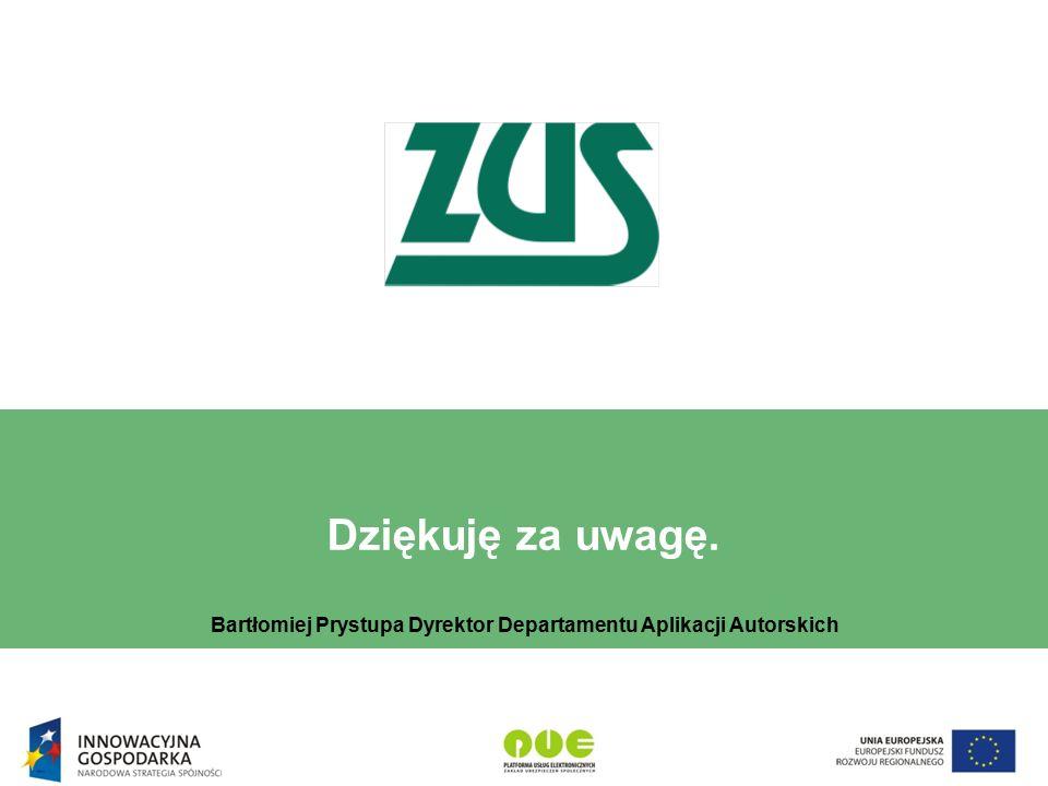 Bartłomiej Prystupa Dyrektor Departamentu Aplikacji Autorskich