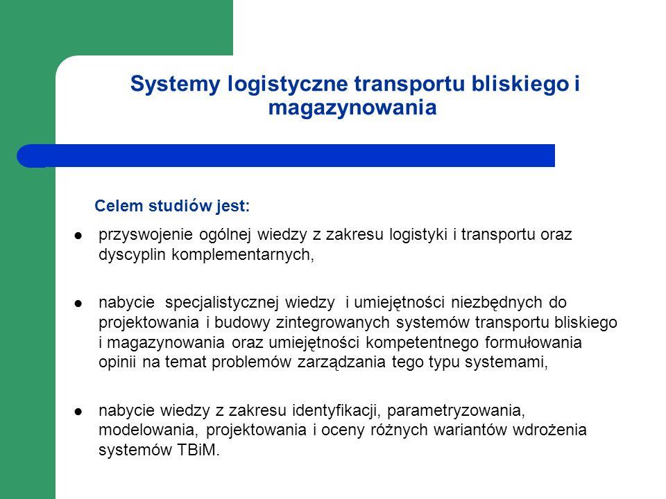 Systemy logistyczne transportu bliskiego i magazynowania