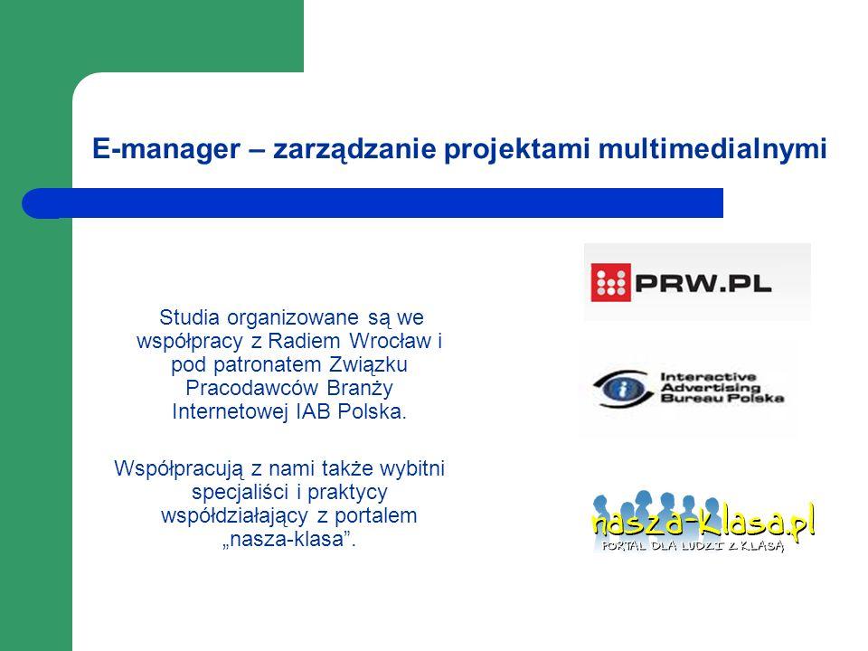 E-manager – zarządzanie projektami multimedialnymi