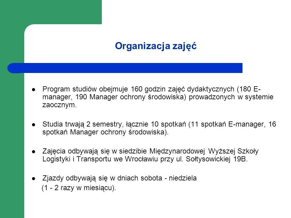 Organizacja zajęć