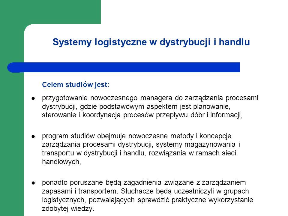 Systemy logistyczne w dystrybucji i handlu