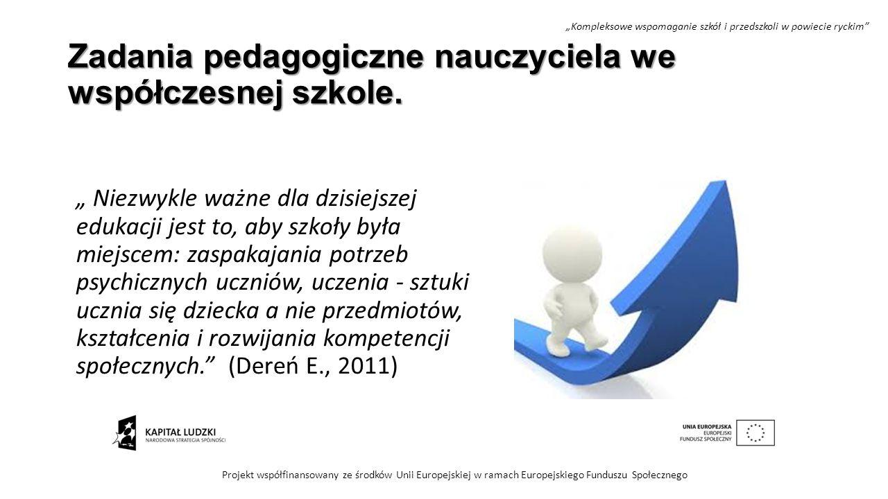 Zadania pedagogiczne nauczyciela we współczesnej szkole.