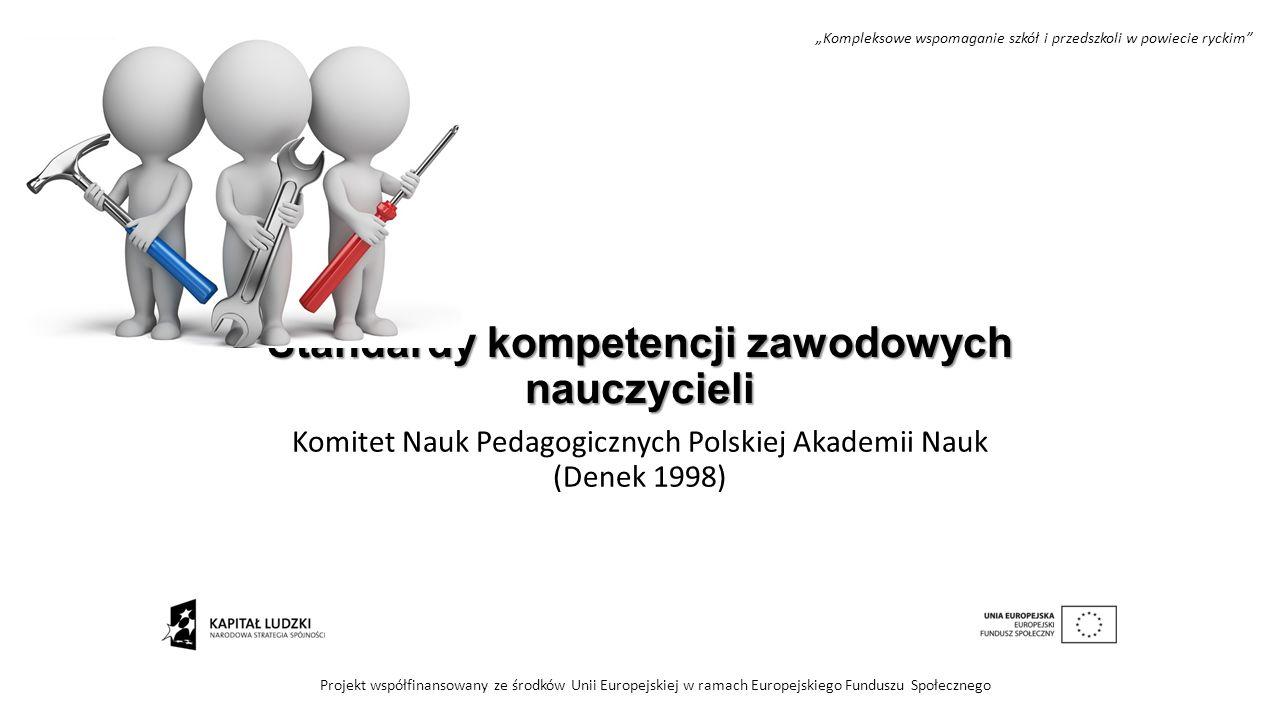 Standardy kompetencji zawodowych nauczycieli