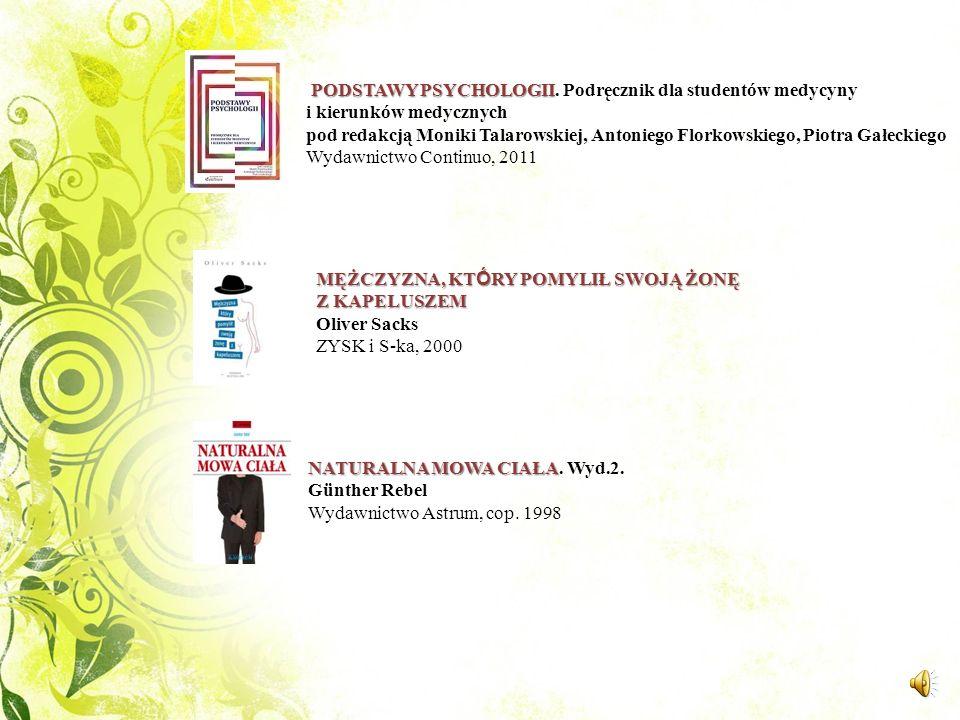 PODSTAWY PSYCHOLOGII. Podręcznik dla studentów medycyny