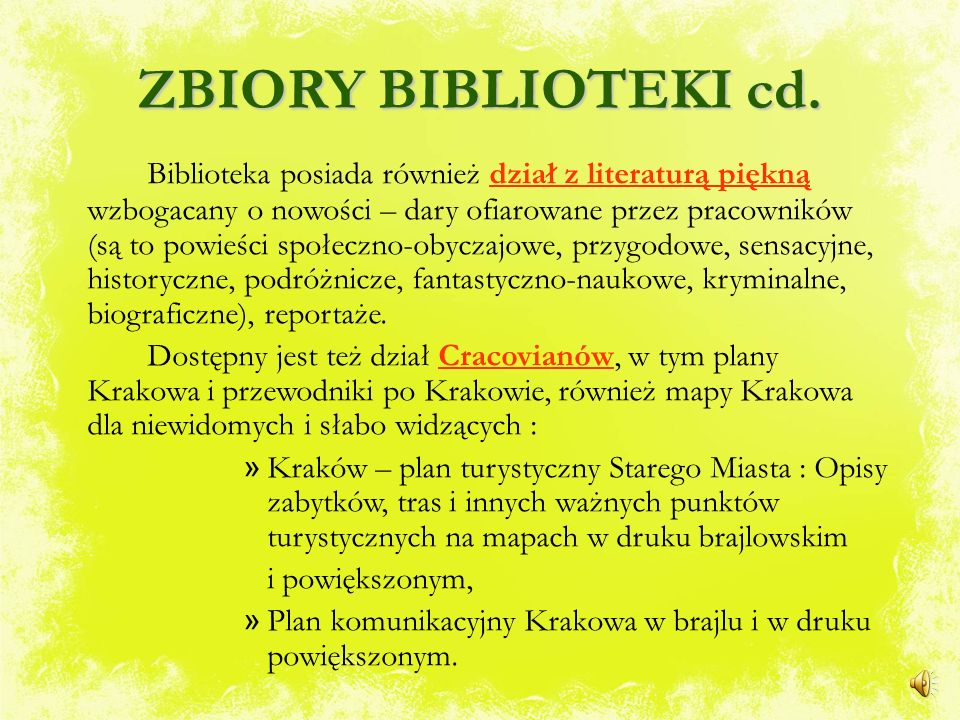 ZBIORY BIBLIOTEKI cd.