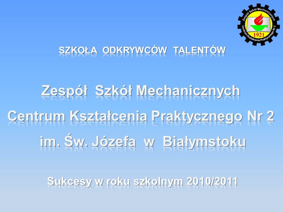 SZKOŁA ODKRYWCÓW TALENTÓW Sukcesy w roku szkolnym 2010/2011