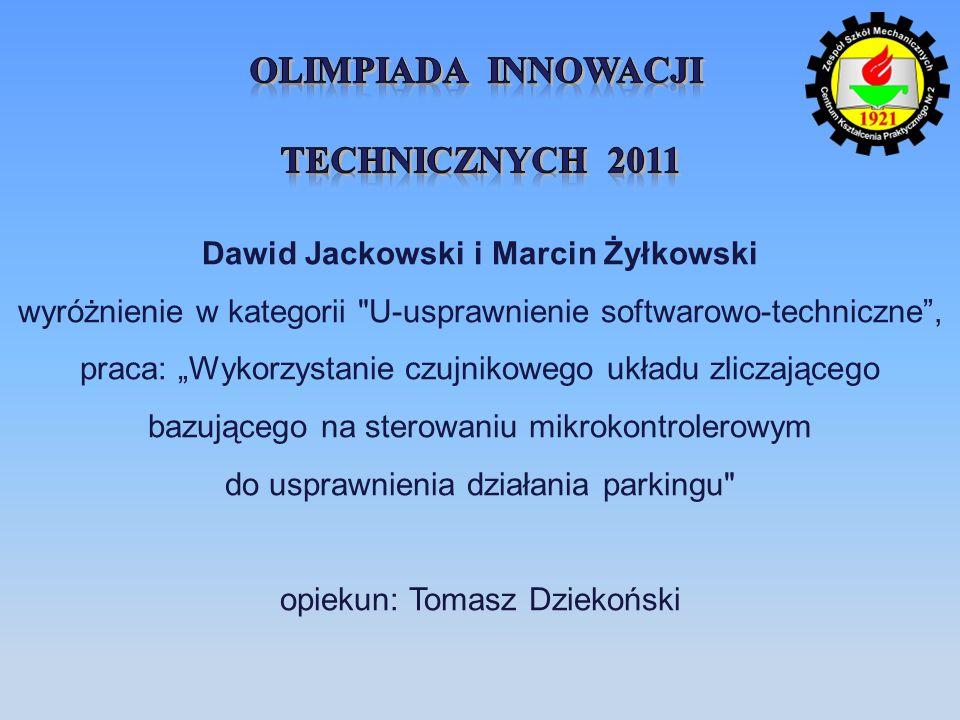 opiekun: Tomasz Dziekoński
