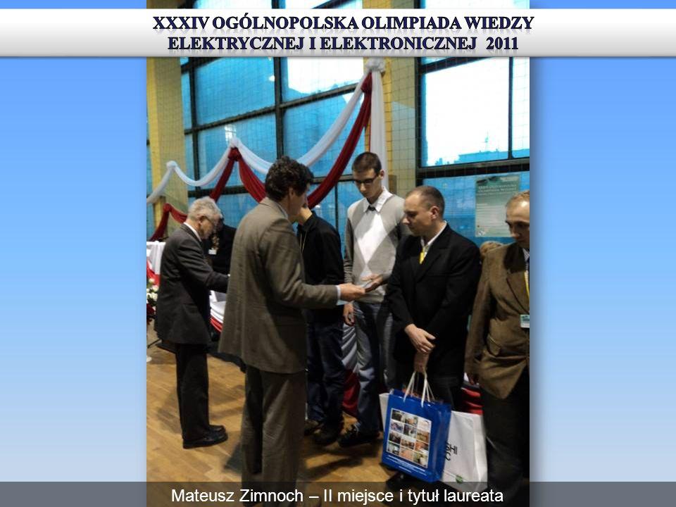 XXXIV Ogólnopolska OliMpiada Wiedzy Elektrycznej i Elektronicznej 2011
