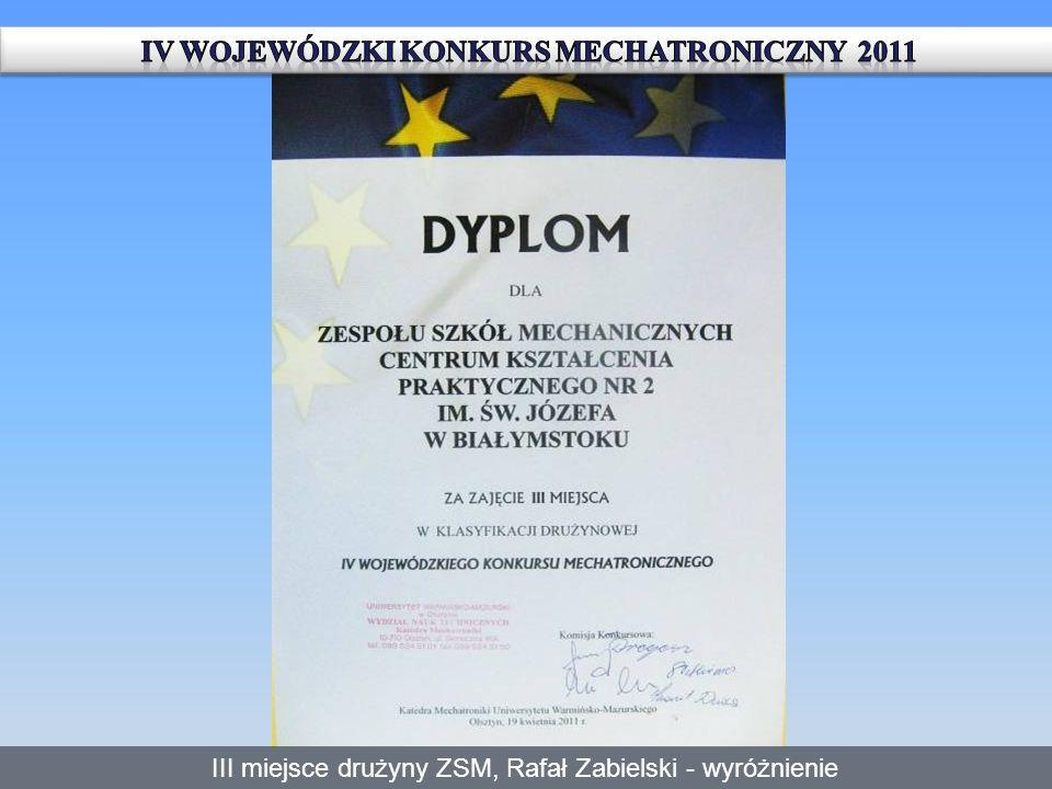 IV Wojewódzki Konkurs Mechatroniczny 2011