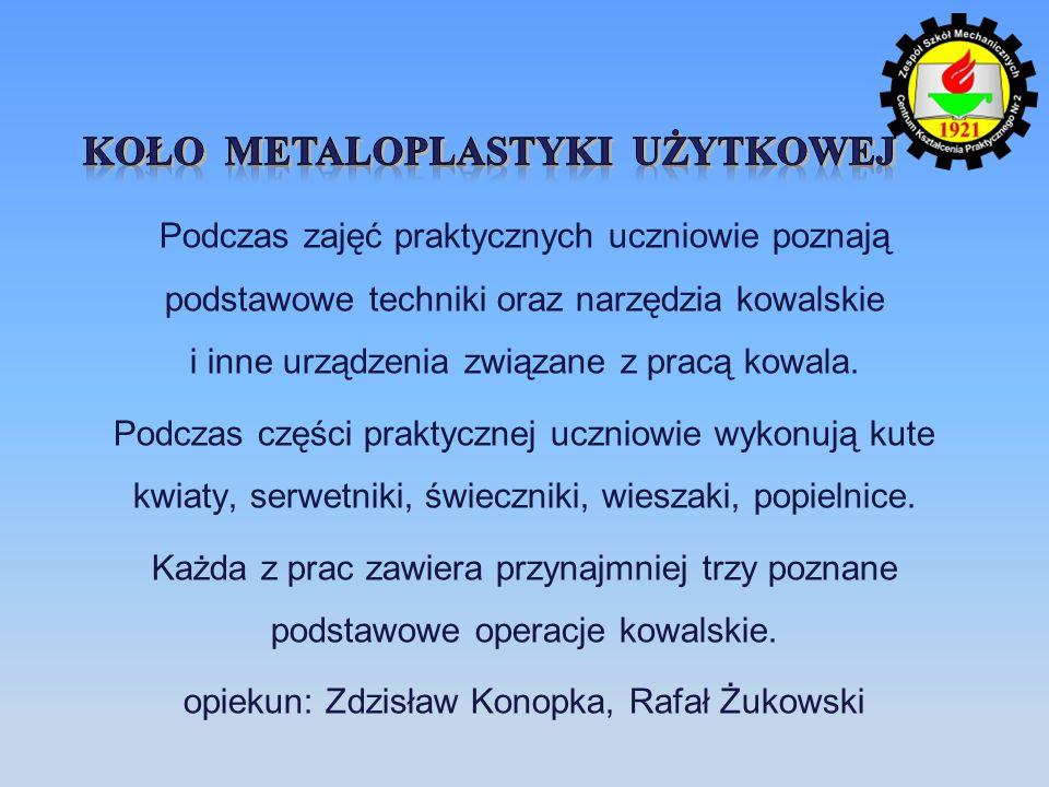 Koło metaloplastyki użytkowej