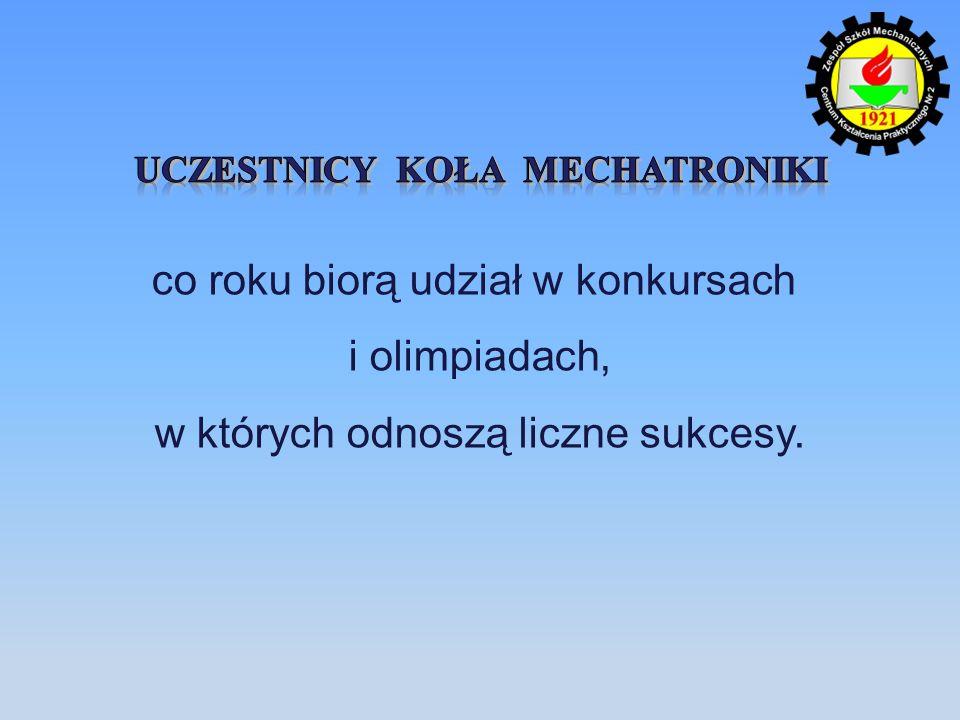 Uczestnicy Koła Mechatroniki