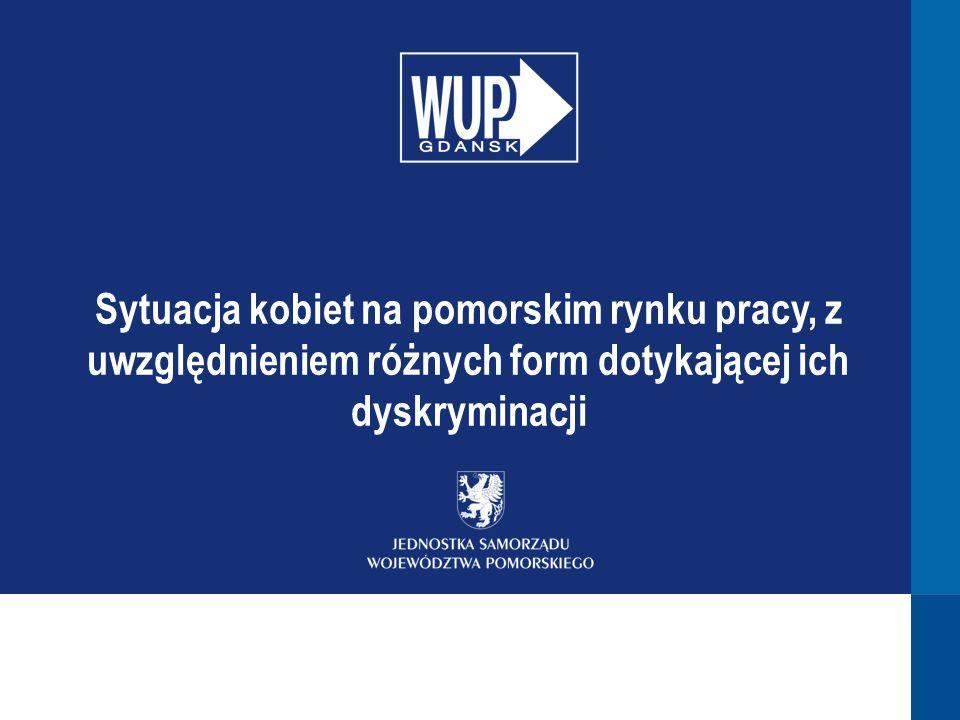 Sytuacja kobiet na pomorskim rynku pracy, z uwzględnieniem różnych form dotykającej ich dyskryminacji