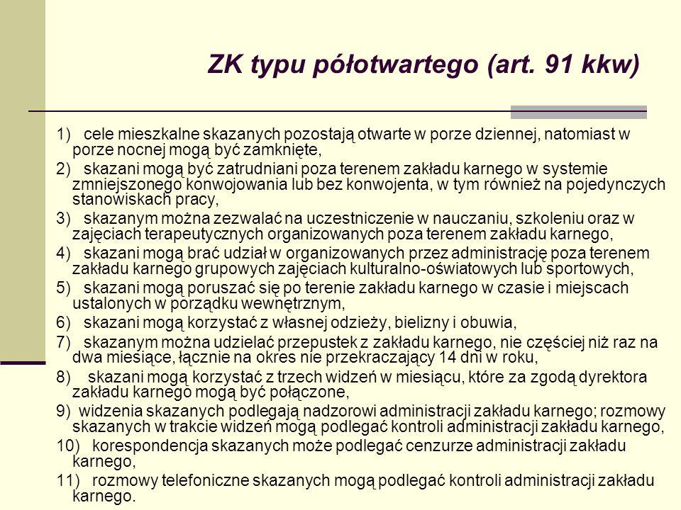 ZK typu półotwartego (art. 91 kkw)