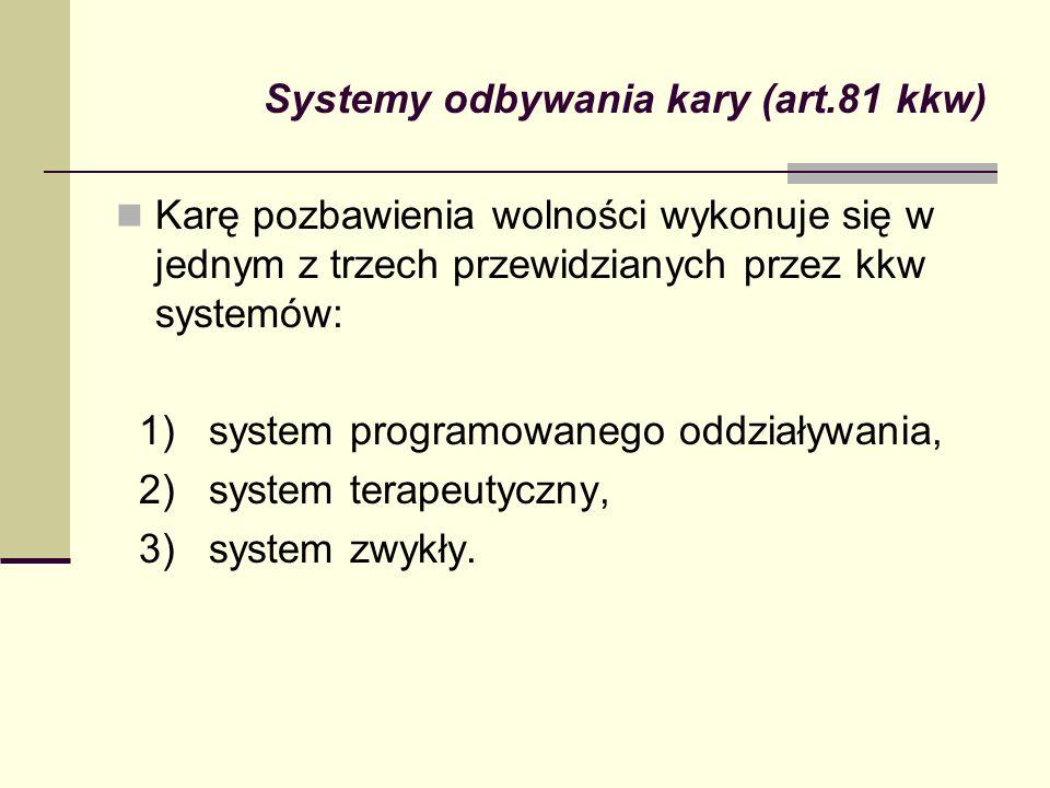 Systemy odbywania kary (art.81 kkw)