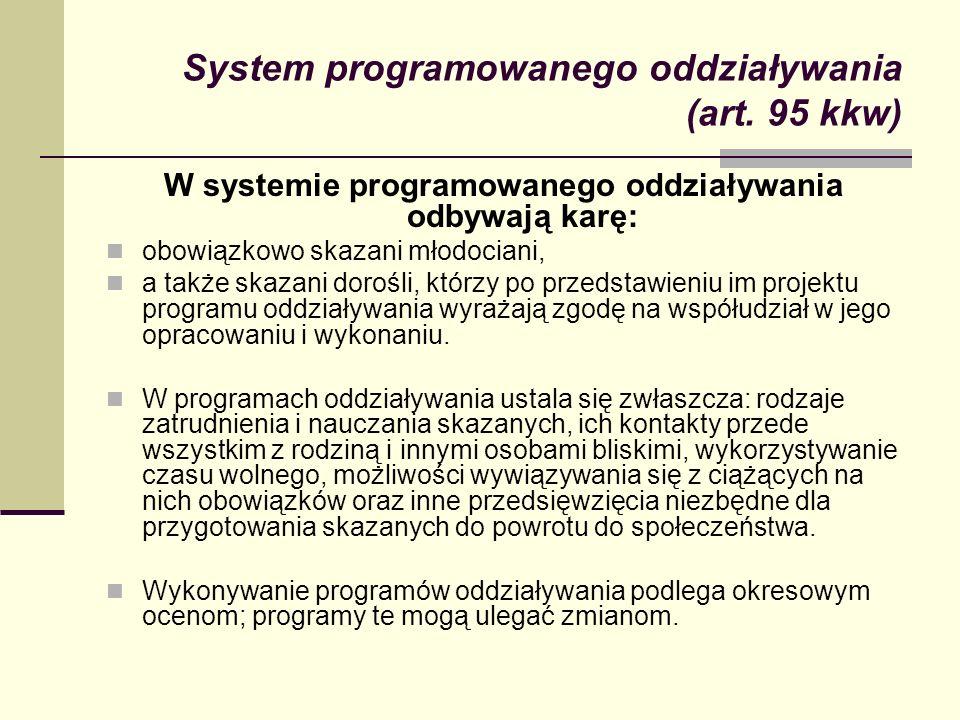 System programowanego oddziaływania (art. 95 kkw)
