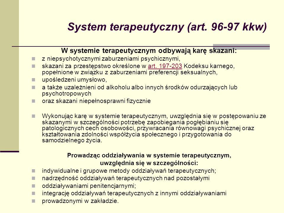 System terapeutyczny (art. 96-97 kkw)