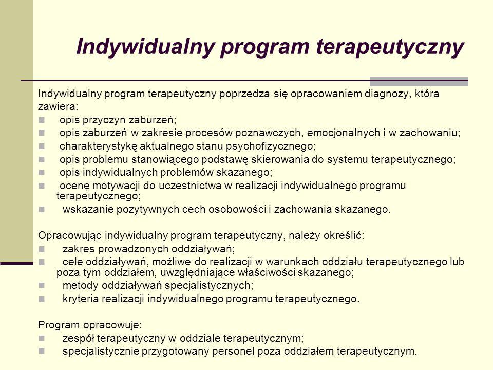 Indywidualny program terapeutyczny