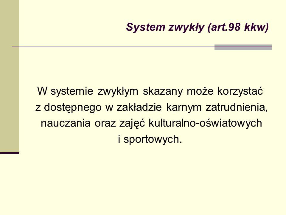 System zwykły (art.98 kkw)