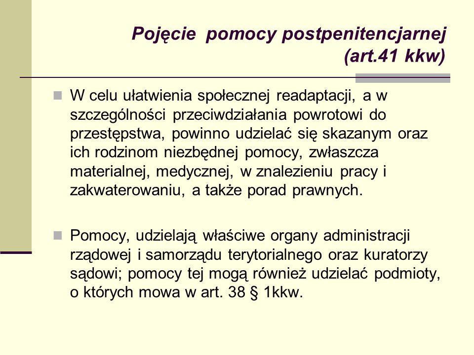 Pojęcie pomocy postpenitencjarnej (art.41 kkw)