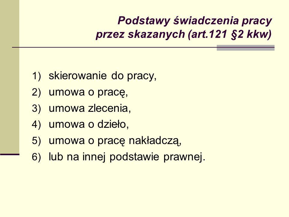 Podstawy świadczenia pracy przez skazanych (art.121 §2 kkw)