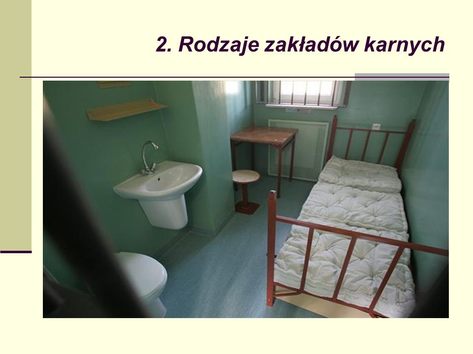 2. Rodzaje zakładów karnych
