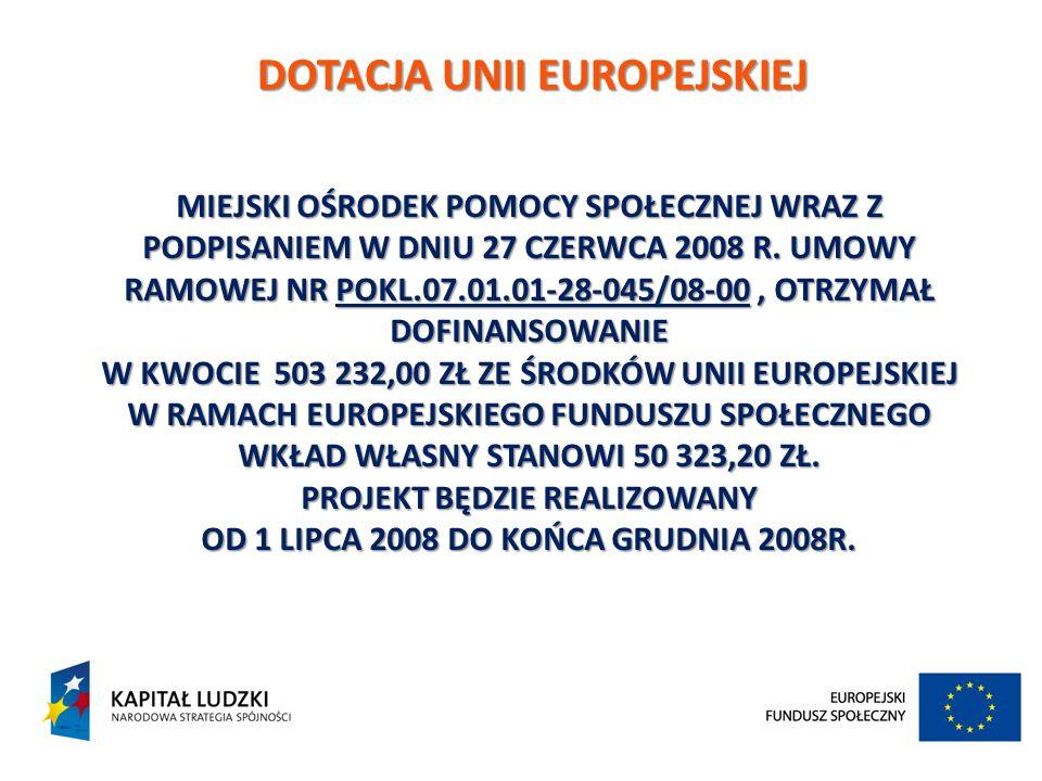 DOTACJA UNII EUROPEJSKIEJ
