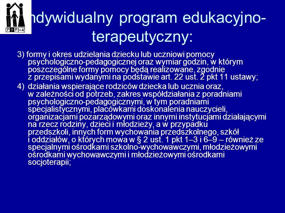 Indywidualny program edukacyjnoterapeutyczny: