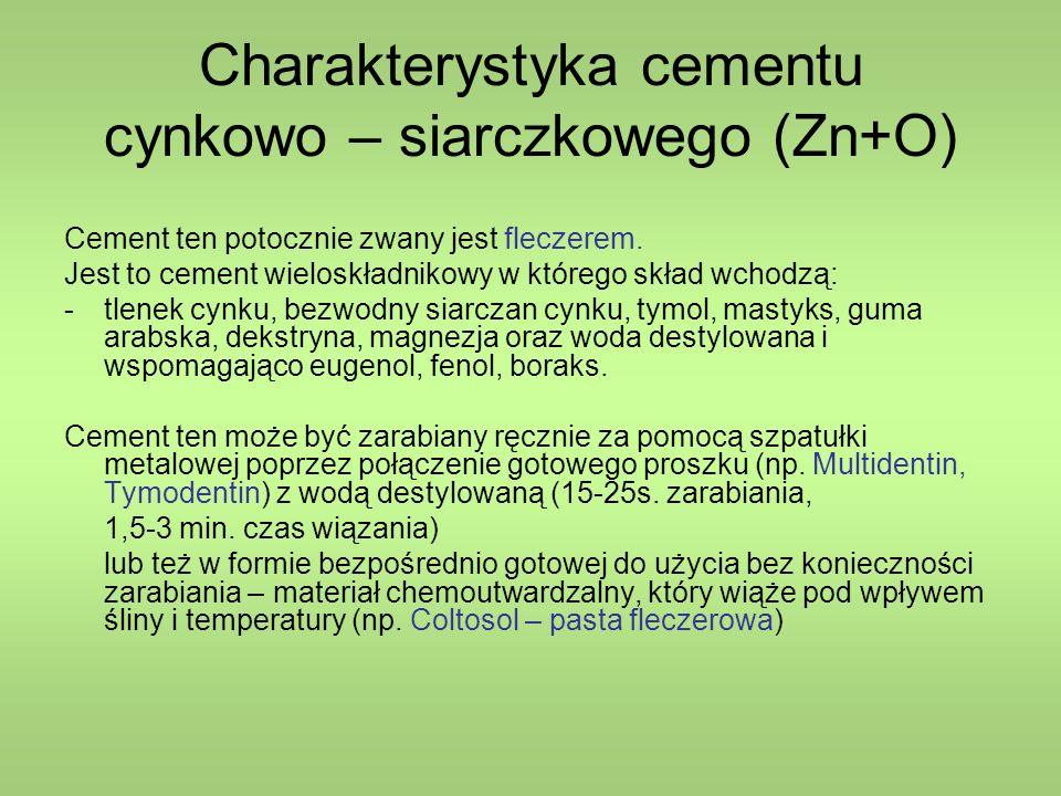 Charakterystyka cementu cynkowo – siarczkowego (Zn+O)