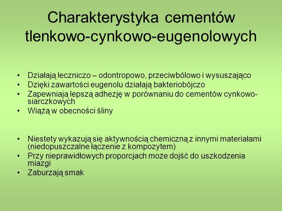 Charakterystyka cementów tlenkowo-cynkowo-eugenolowych